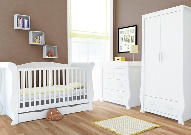 Babystyle Hollie Fresh White 3 Piece Room Set Leith Pram
