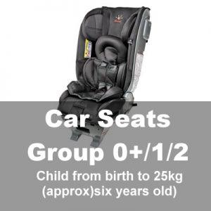 Car Seats Group 0+1/2 (Baby-6yrs)